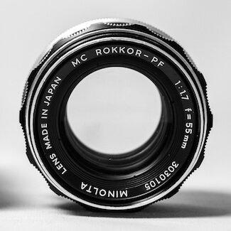 Minolta Rokkor Lens - Henry Glover Commercial Photographer, © 2020