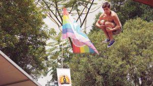 Acrobat, Yoga Festival, Mullumbimby - Henry Glover Community Photographer © 2020